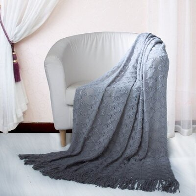 Bolton Throw Blanket Color: Gray