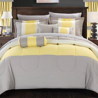 Mackenzie 20 Piece Queen Comforter Set Color: Yellow