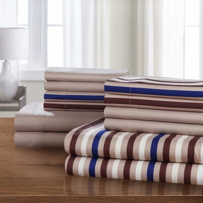 Abigail Sheet Set Size: King, Color: Brown