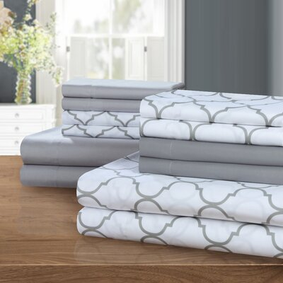 Hackett Sheet Set Size: King, Color: Gray