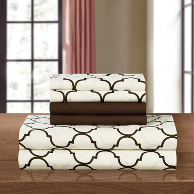 Illusion Sheet Set Size: King, Color: Brown