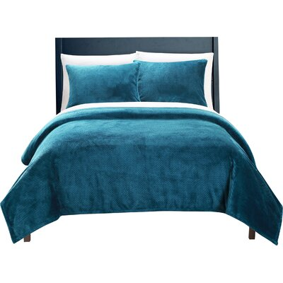 Luxembourg Blanket Set Size: Full/Queen, Color: Teal