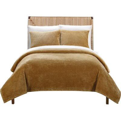 Luxembourg Blanket Set Size: King, Color: Camel