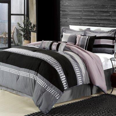 Castle Rock 12 Piece Comforter Set Size: King, Color: Gray