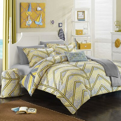 Laredo 8 Piece Twin XL Comforter Set Color: Yellow