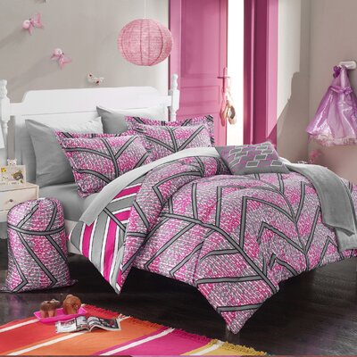 Laredo 10 Piece Full Comforter Set Color: Fuchsia