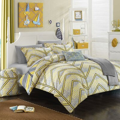 Laredo 10 Piece Full Comforter Set Color: Yellow