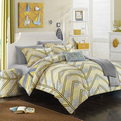 Laredo 10 Piece Full Comforter Set Color: Yellow