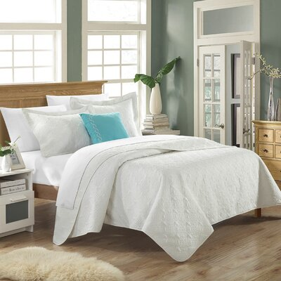 Eudora 3 Piece Quilt Set Color: White
