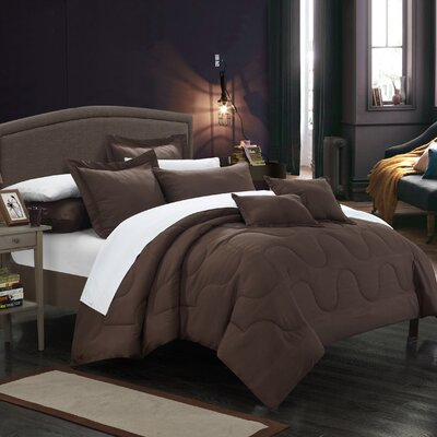 Donna Twin Comforter Set Color: Brown
