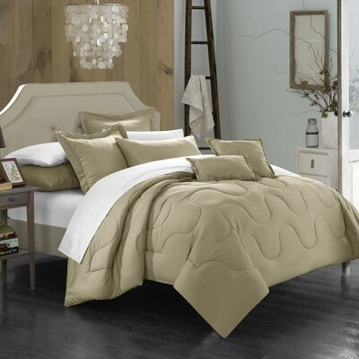 Donna Twin Comforter Set Color: Taupe