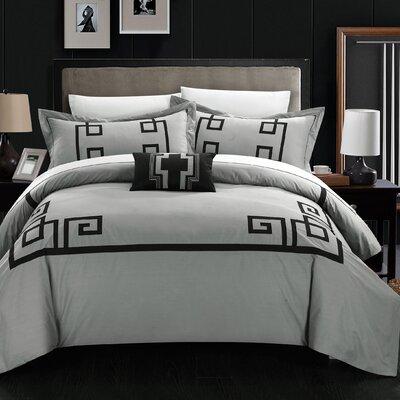 Royalton 7 Piece Duvet Cover Set Size: King, Color: Gray