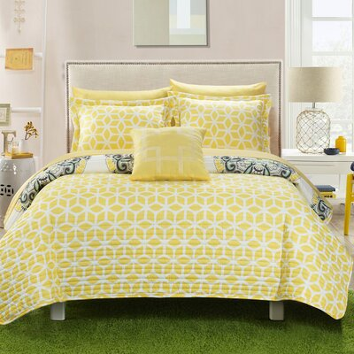 Madrid Reversible Quilt Set Color: Yellow, Size: King