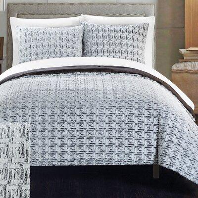 Greece 3 Piece Queen Comforter Set Color: Grey