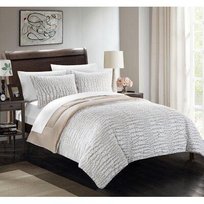 Alligator 3 Piece Comforter Set Color: Beige, Size: Queen