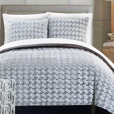 Greece 7 Piece Queen Comforter Set Color: Grey