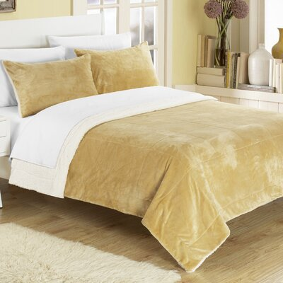 Evie 2 Piece Twin XL Comforter Set Color: Camel