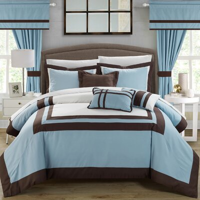 Ritz 20 Piece Comforter Set Size: Queen