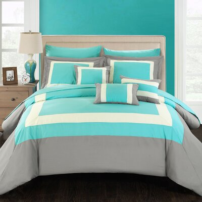 Lowell 10 Piece Comforter Set Size: Queen