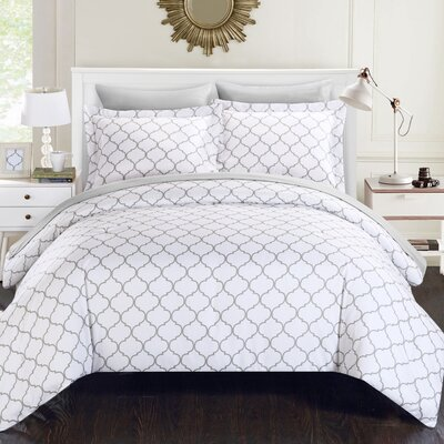 Heather Reversible Comforter Set Size: Queen, Color: Brown