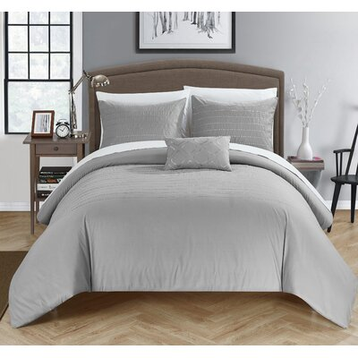 Bea Duvet Cover Set Size: Queen, Color: Gray