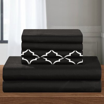 Illusion Sheet Set Size: Queen, Color: Black