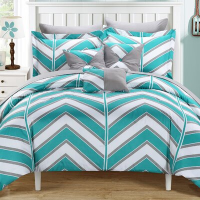 Surfer Reversible Comforter Set Size: King