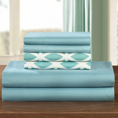 Norfleet Sheet Set Size: King, Color: Green
