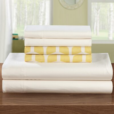 Norfleet Sheet Set Size: Queen, Color: Yellow