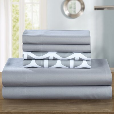 Norfleet Sheet Set Size: King, Color: Gray