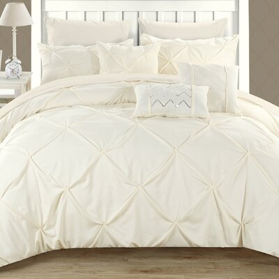 Filicia 8 Piece Twin Comforter set Color: Beige