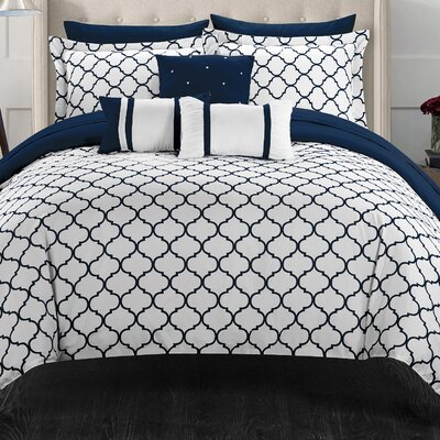 Dorothy 10 Piece Comforter Set Size: Queen