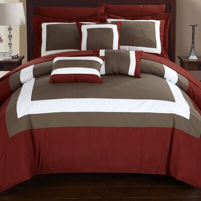 Lowell 10 Piece Comforter Set Size: Queen