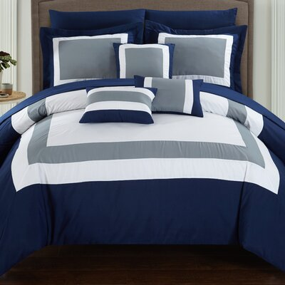 Lowell 10 Piece Comforter Set Size: King
