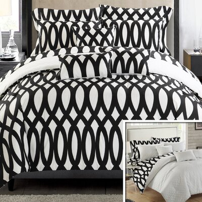 Holland Reversible Comforter Set Size: King, Color: Biege