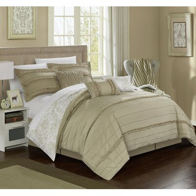 Elle 11 Piece Reversible Bed-In-A-Bag Set Size: King