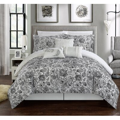 Elle Reversible Comforter Set Size: Twin
