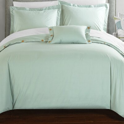 Hartford Duvet Cover Set Size: Queen, Color: Aqua