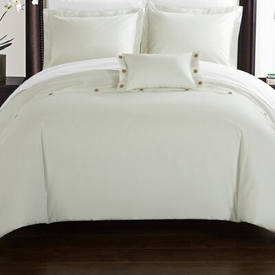 Hartford Duvet Cover Set Size: Twin, Color: White