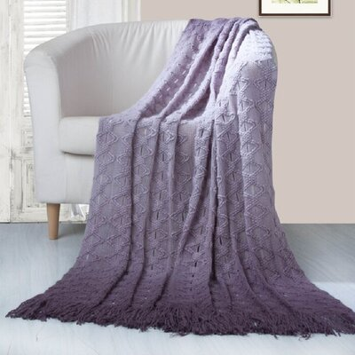 Bolton Throw Blanket Color: Lavender