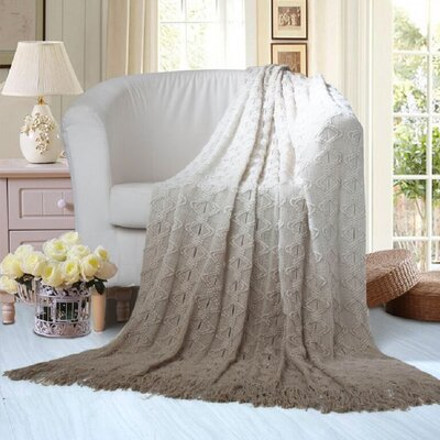 Andie Throw Blanket Color: Taupe
