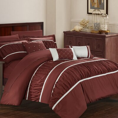 Cheryl 10 Piece Comforter Set Size: King