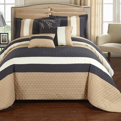 Pueblo 10 Piece Comforter Set Size: Queen