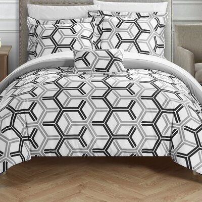 Marcia 8 Piece Comforter Set Size: Full/Queen, Color: Gray