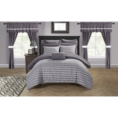 Jacksonville 20 Piece Reversible Bed Size: King, Color: Plum