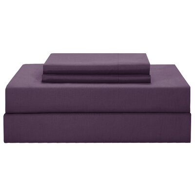 Peninsula Reversible Comforter Set Size: Queen, Color: Plum