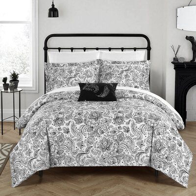 Regents Park Duvet Set Size: Queen, Color: Black