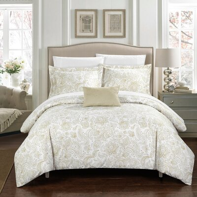 Regents Park Duvet Set Size: King, Color: Beige