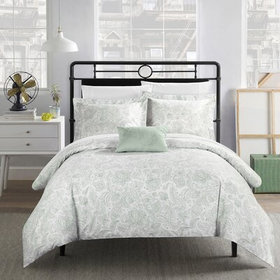 Regents Park Duvet Set Size: Queen, Color: Green