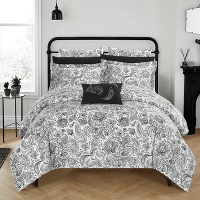 Regents Park Duvet Set Size: Twin, Color: Black